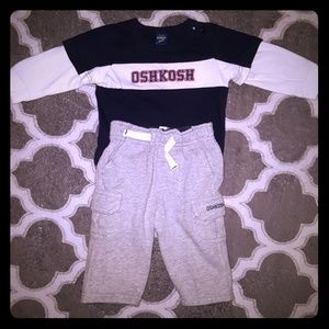 Oshkosh outfit for baby boy 3-6 shirt 6m pants